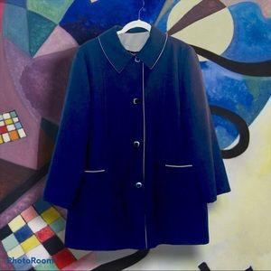 Vintage Navy Blue Jacket ILGWU Label